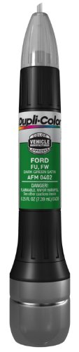 Dupli-Color AFM0402 Dark Green Satin Ford Exact-Match Scratch Fix All-in-1 Touch-Up Paint - 0.5 oz.