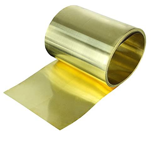 NICOLIE 1 Meter/Rolle Dünnes Messingblech Streifen Goldfilm Hochreine Messingfolienplatte H62 Dicke 0,1/0,2/0,3/0,5 Mm * Breite 20/30 / 50 Mm - 20mm - 0.2mm thick