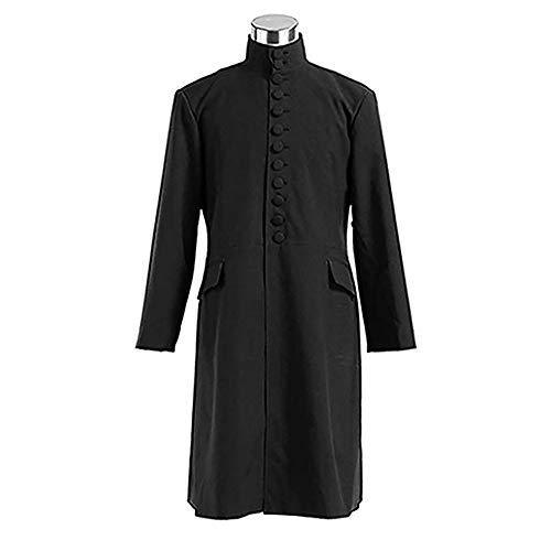 Xwenx Disfraz largo unisex para Halloween, disfraz medieval, bata de sacerdote, disfraz de Halloween, disfraz de cosplay, capa M