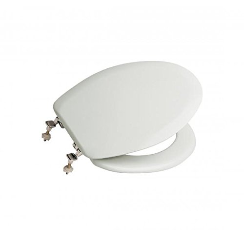 Roca Lucerna A801099004 - Toilettensitz, mit verchromten Scharnieren, Weiß