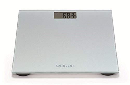 OMRON HN289 - Báscula de baño digital, 5 Kg a 150 Kg, pilas incluidas, color gris