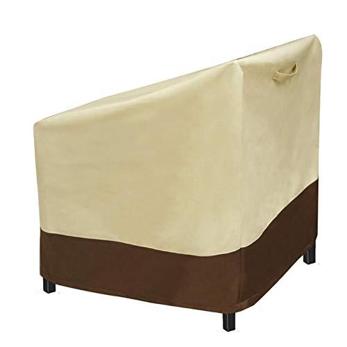 XanSpoden Funda para silla de patio impermeable a prueba de polvo, Oxford transpirable para muebles de exterior, funda protectora para sofá de jardín, patio, balcón (M)