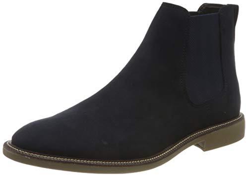 find. Marsh Herren Chelsea Boots Stiefel, Blau (Navy Suede Look), 42 EU