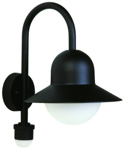 Albert Leuchten 0661 Wandleuchte mit Bewegungsmelder, schwarz - 660661