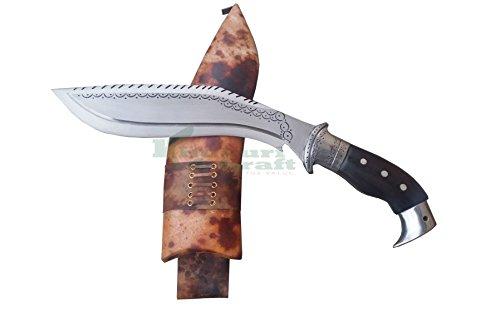 "Khukuri & Craft 10"" Blade Dragon Intory American Eagle Roosewood Handle Best kukri Brown Sheath Working,Military Knives,Handmade, Nepal"
