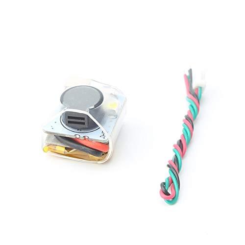 Delicacydex Mini Finder JHE42B_S Super Loud Buzzer Tracker 110dB con LED Timbre de Alarma para Multirotor FPV Racing Drone Flight Controller - Negro