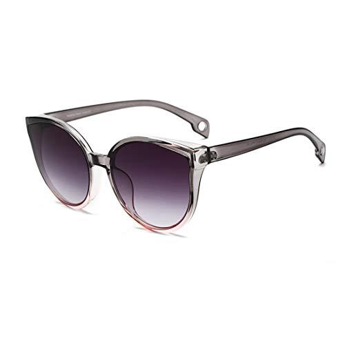Long Keeper Occhiali da Sole a Gatto Vintage da Donna Protezione UV Occhiali da sole Grandi di Occhi di Gatto Rero Cat Eye Stile Moda Oversize (C3)