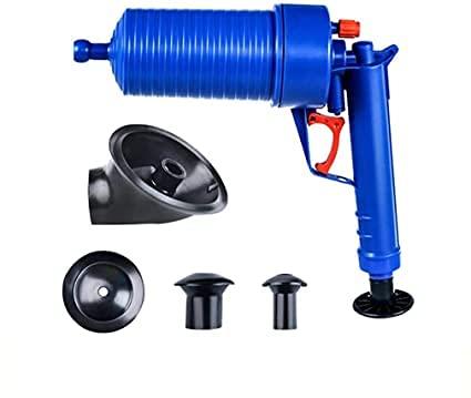 Desatascador de Tuberías Neumático Profesional Inodoro desatascador,herramientas de drenaje, pistola de drenaje de aire potente,utilizado para cocina, baño