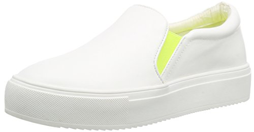 Buffalo Shoes Damen C072C-22D P1735S LEATHER PU Slipper, Weiß (WHITE 53), 40 EU