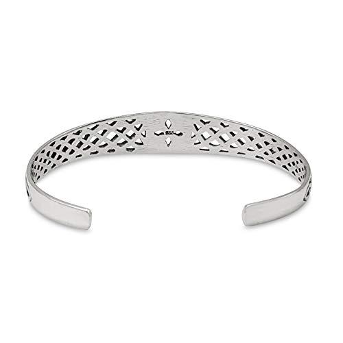 81stgeneration Women's Oxidised .925 Sterling Silver Celtic Knot Quaternary Adjustable Bangle
