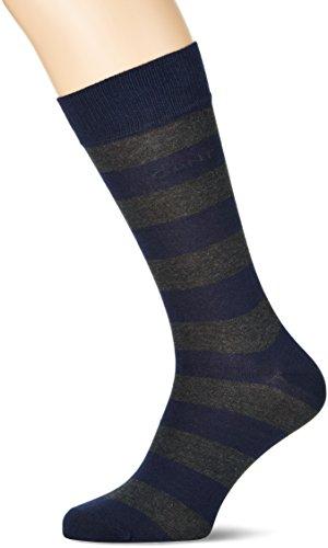 GANT Herren O. Barstripe Socken, Grau (Charcoal Melange 90), One Size