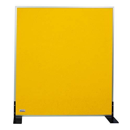 Horch Akustik Stellwand, Pinnwand, mit Aluminiumrahmen, Schallabsorber, Trennwand, Büroausstattung, Zitronengelb 1m x 1,2m