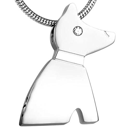 BHSICSACLJ 316L Collar de urna de cremación para Perros y Mascotas Colgantes conmemorativos de...
