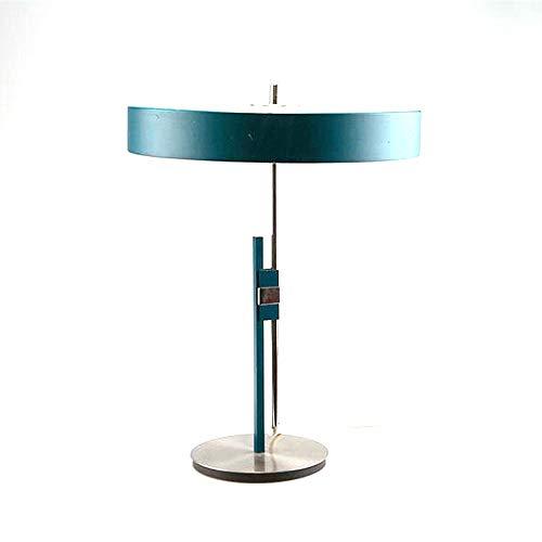 WHSS Lámpara de mesa moderna creativa hardware azul oscuro sala de estar arte mesita de noche dormitorio estudio escritorio lámpara de mesa lámpara de mesa