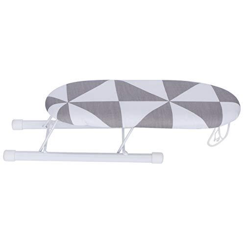 Mini tábua de passar roupa, mesa de passar a ferro que economiza espaço, para punho de pescoço (quadrado moderno)