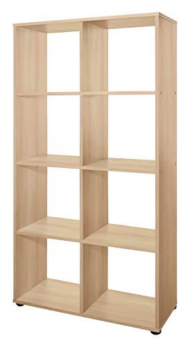 WILMES Regal, Raumteiler, Buche Dekor Melamin, 29x70x142.5 cm