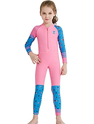 Skijakkeset Kids Long Sleeve Diving Suit, 2.5 mm Neoprene Thermal Swimsuit, Youth Boy's Girl's One Piece Wet Suits for Scuba Diving, Full Suit and Shorty Swimsuit