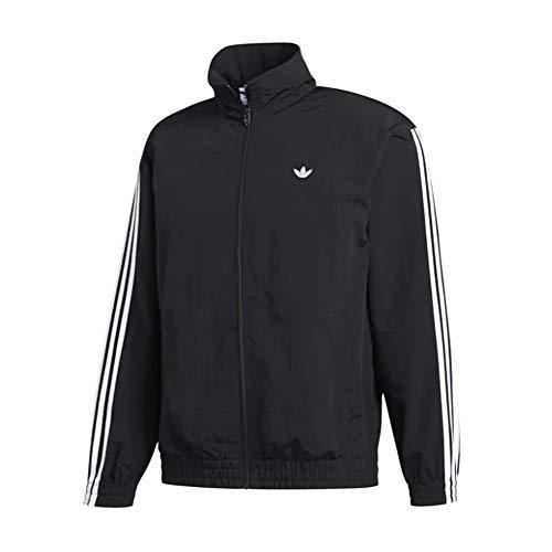 adidas Originals Men's Shadow Trefoil Windbreaker Black/White Medium