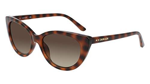 Calvin Klein Gafas de sol ojo de gato Ck20515s para mujer, Tortoise, 55/16/140