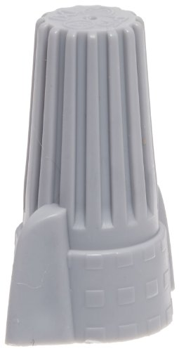 Easy-Twist Winged Wire Connector, Standard Type, 18-8 AWG Wire Range, 600V, Grey (Standard Jar of 50)
