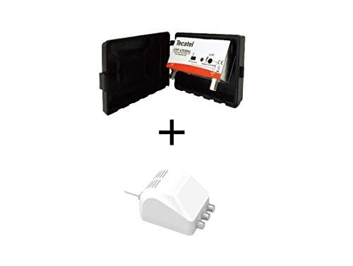 Kit Amplificador de mástil AMP-LTE304L y Fuente FA-MAX24120 para UHF