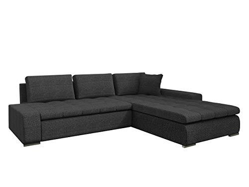 Eckcouch Ecksofa - Orkan! Elegante Sofa mit Schlaffunktion und Bettfunktion, Bettkasten Couch L-Sofa Große Farbauswahl, Beste Qualität (Majorka 03)