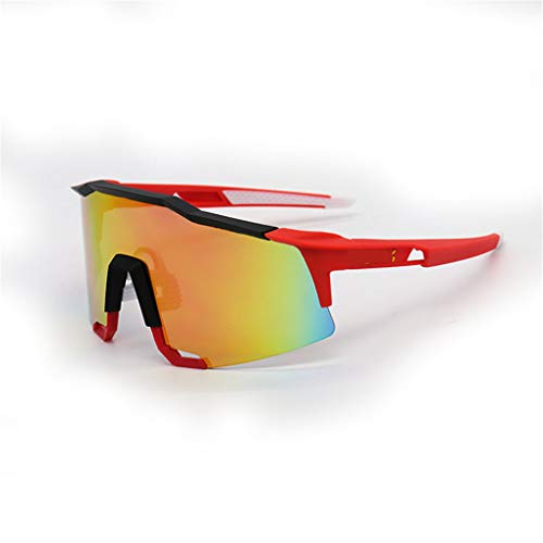 Gafas De Sol Polarizadas para Bicicletas, para Hombre Mujeres Ciclismo De Pesca, Gafas Deportivas Ligeras, con 1 Lente Intercambiable,D