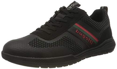 bugatti Herren 322981026900 Sneaker, schwarz, 46