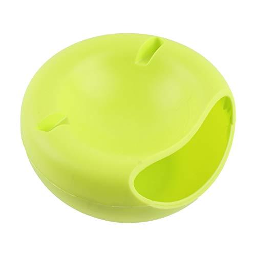 Morninganswer Plástico de Doble Capa Semillas de melón de Frutas secas Contenedores de nueces Caja de Almacenamiento de bocadillos Organizador de Placa con Soporte para teléfono móvil