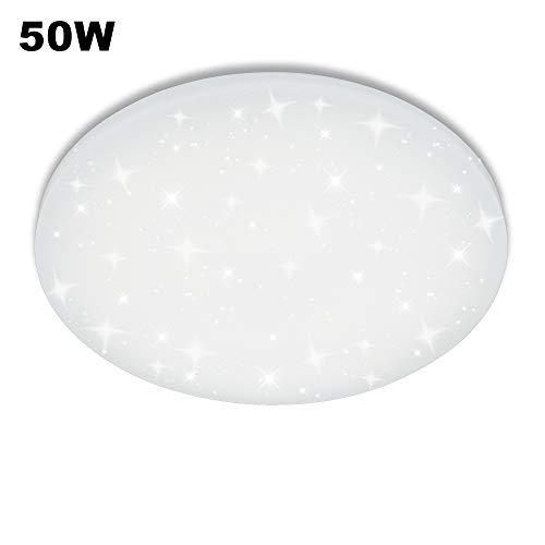 VGO 50W Lampada da Soffitto a LED luce Stellare Fredda Bianca Cielo Stellato Rotonda a Parete Bagno Adatto