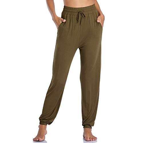 ROCHVIE Women's Yoga Pants with Pocket High Waisted Jogger Athletic Sweatpants for Women
