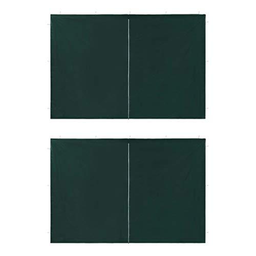 tidyard 2xAccesorio Ideal para Carpa de Fiesta,Paredes Laterales con Cremallera,Impermeable y Resistente a Los Rayos UV,Verde 300x195cm