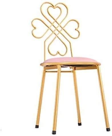 WZX Taburete de Bar Silla de Hierro Silla de Mesa de Comedor Taburete de Bar Moderno Silla Simple Tocador Dorado Silla de Respaldo