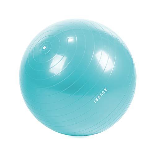 BERELA HOME ISSAGE FIT- Ball Pelota de Ejercicios para Yoga y Fitness, Entrenamiento para desarrollar Fuerza y Flexibilidad, Incluido Hinchador y Dos Tapones. 550 mm de diámetro.