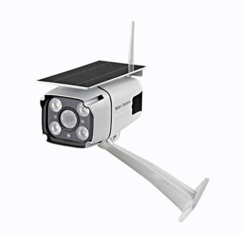 card for cctv cameras Solar Powered Wireless Security Camera-2.4Ghz WiFi IP Solar CCTV Camera Built in Rechargeable Battery, SD Card Storage, IP67 Waterproof, Remote APP, PIR Sensor,for Outdoor Smart Home Security Camera