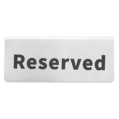 Toasses Signo de Mesa en inglés de Doble Cara de Acero Inoxidable Signo de Mesa para Restaurante Hotel Bar Pub Vajilla (Reservado)