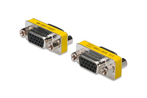DIGITUS HD D-Sub 15 Gender-Changer - VGA-Adapter - 15-Pin Kupplung - Stecker zu Stecker - Metallgehäuse