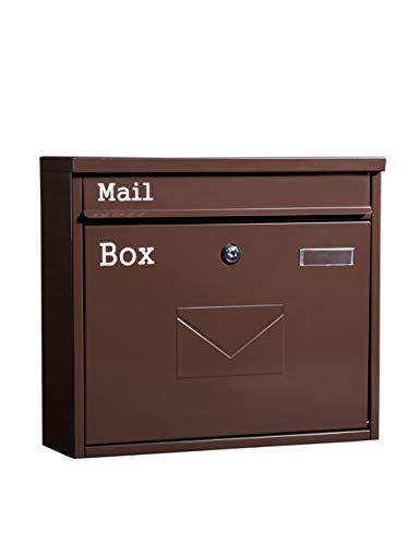 Roestvrijstalen brievenbus Wandslot medewerkers klamatiebox creatieve aluminium brievenbus Liefdependenbox (kleur: chocolade)