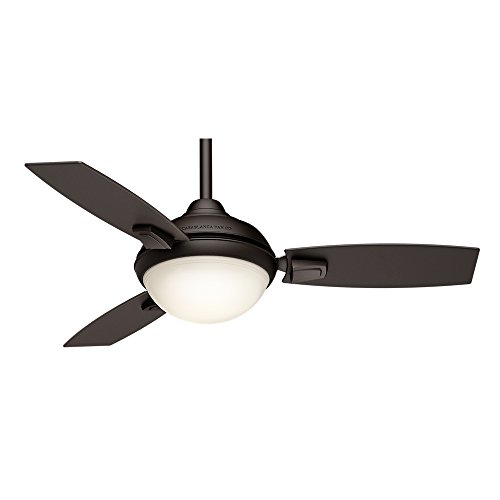 Casablanca Indoor/Outdoor Ceiling Fan with LED Light and remote control - Verse 44 inch, Maiden Bronze, 59154