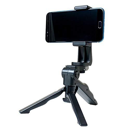 HelloCreate Handheld statief, draagbare statiefstandaard met telefoonclip standaard voor mobiele telefoons van toepassing op live uitzending, videogesprek, handsfree videoweergave