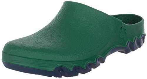 Brandsseller Zuecos de jardín para mujer, para exteriores, resistentes al agua, color Verde, talla 38/39 EU