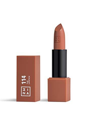 3INA Makeup - Vegan - Cruelty Free - The Lipstick 114 - Langanhaltender Lippenstift - Lippenstift Matt - Wasserfest - Hochpigmentiert Lippen-Stift - Hellbraun - Mattiert