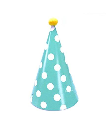 Bleu Dots, Fournitures De 8Pcs d'anniversaire d'enfants Hat Party Party Hat