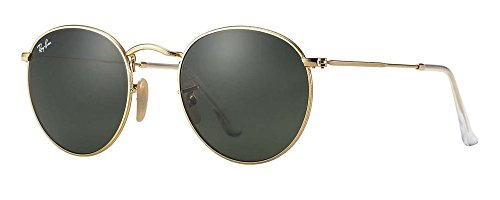 Ray-Ban RB3447 (50 mm Gold Frame Solid Black G15 Lens)