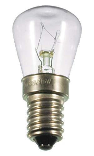 S+H Birnenformlampe 26x57mm Sockel E14 12 Volt 25 Watt