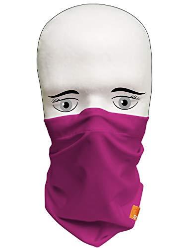 iQ-UV Damen 2X IQ Community Multifunktionstuch Tube-Masken Set 2 Stück, Cassis, S