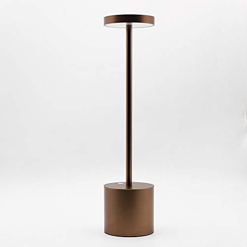 LanLan Lampade da Lettura Lampada da Tavolo Ricaricabile USB LED Elegante Lampada da Notte con 2-Mode Eye-Protect Lamp Gift Golden Shell Warm Light