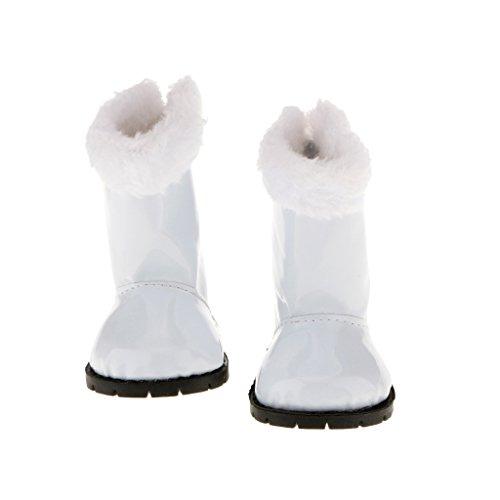 Sharplace - Bekleidung & Schuhe für Modepuppen in Weiß 02, Größe 8.5 x7.2cm