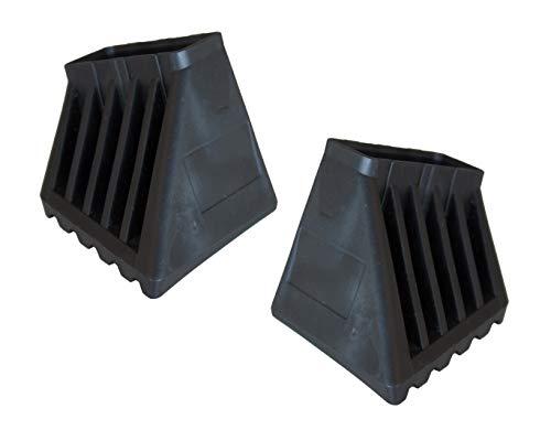 1 Paar Fußkappen XL 33x20mm I \ schwarz Monto Krause 202000