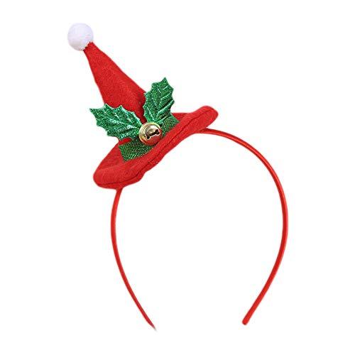 LAMEIDA Diademas de navidad Sombrero Hairband Tocado lindo para la fiesta de Navidad Vestido de Navidad Accesorios de disfraces para adultos y niños 1 paquete